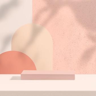 디자인 공간이 있는 파스텔 제품 배경