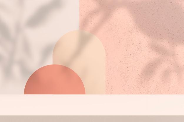 Sfondo prodotto pastello con spazio di design