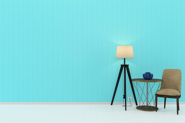 Pastel room wood wall living template interior