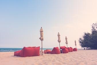 Pastel seascape coastline sand retro