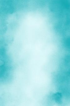 パステル ターコイズの水彩画の背景