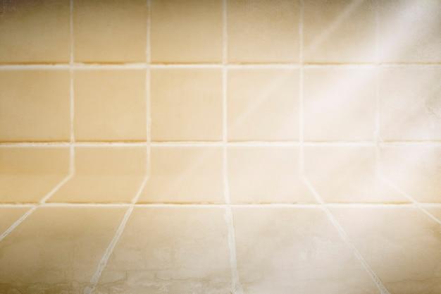 파스텔 노란색 타일 무늬 제품 배경