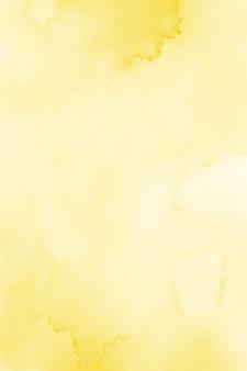 パステルイエローの水彩画の背景