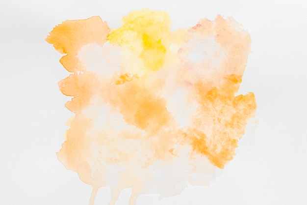 Pastel yellow watercolor paint copy space