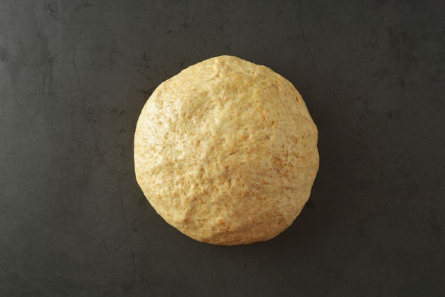 Pastry dought cooking process for baking bread, italian pizza, pasta or other pastry. flat lay.
