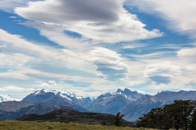 アルゼンチン南部のパタゴニアの風景。美しい自然の風景。
