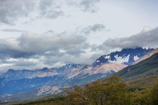 アルゼンチン南部のパタゴニアの風景