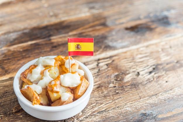 Patatas bravas with typical sauce