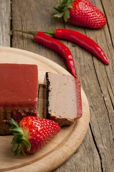 Pate with strawberry jally