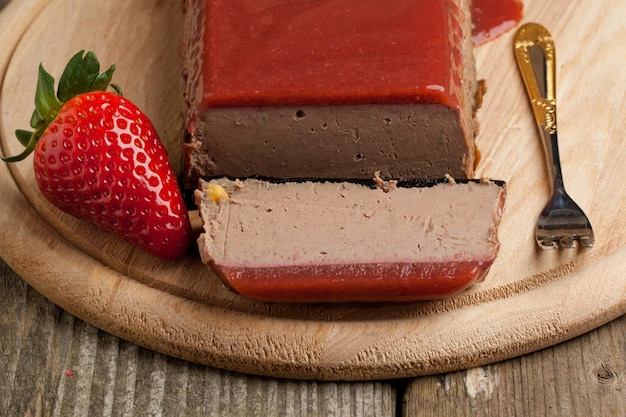 Pate with strawberry jelly