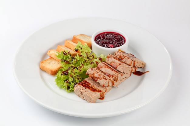 Pate with toasts