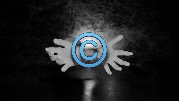 Патентное право, авторское право, интеллектуальная собственность, бизнес, интернет-технология, концепция d рендеринга