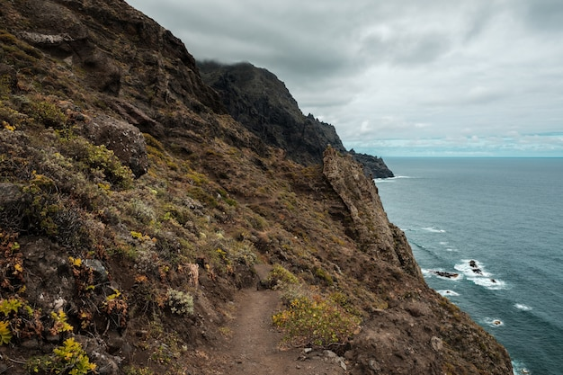 Path along the coast in anaga country park
