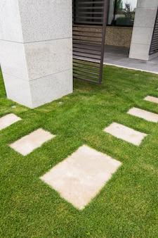 Path of stone slabs
