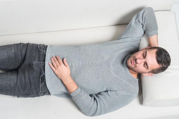 Patient on a divan
