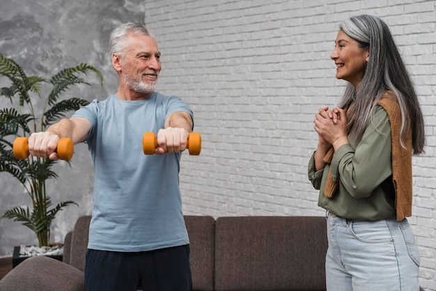 Patient starting medical recovery workout