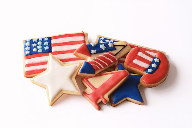 Patriotic cookies for 4th of july