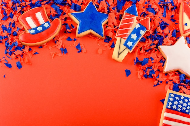 Patriotic cookies american background