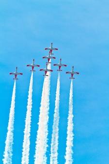 스페인 공군의 곡예 비행 팀 patrulla aguila