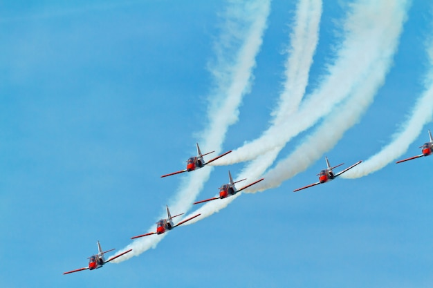 Patrulla aguila, aerobatic demonstration team of the spanish air force