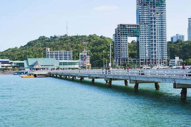 Pattaya island city and sea