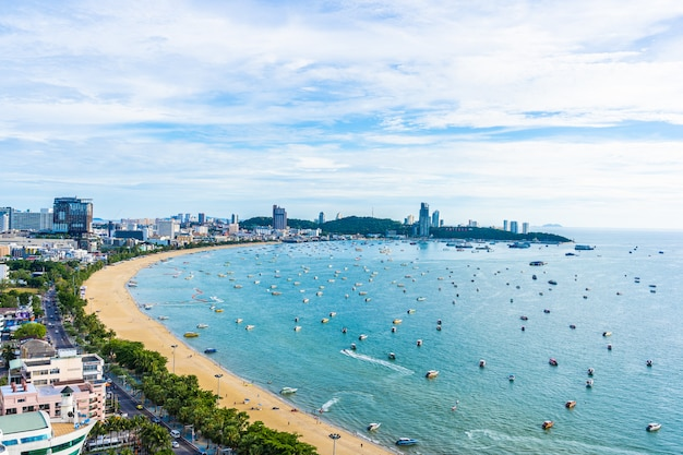 Pattaya thailand - 26 july 2019 beautiful landscape and cityscape of pattaya city in thailand