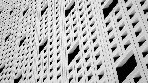 Pattern of air ventilation at modern concrete building
