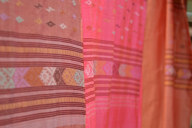 The pattern of beautiful woven fabrics