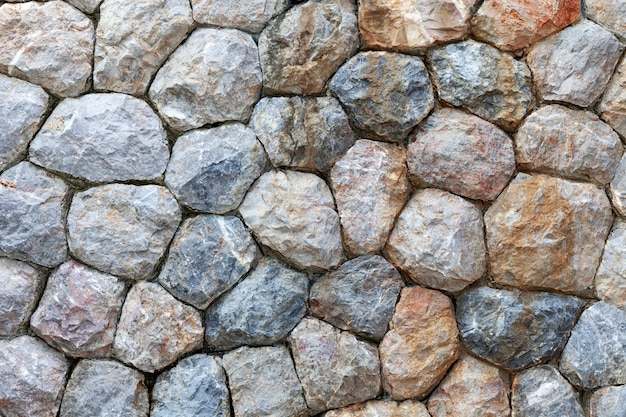 Pattern of big stone wall for background and design