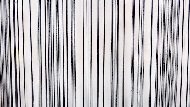 Pattern of black silk yarn for ready to weaving