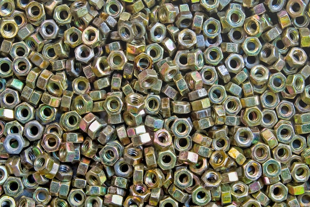 Pattern of bolts and nuts