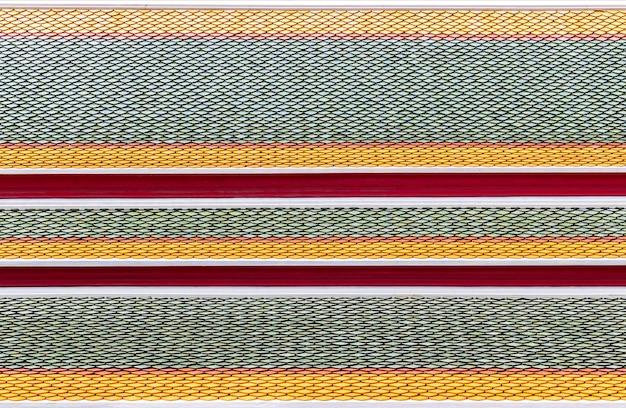 Pattern ceramic of thai temple roof