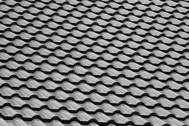 Pattern of ceramic tile roof