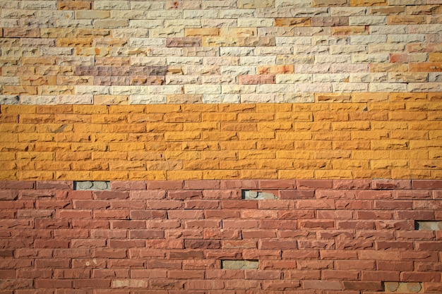 Pattern of colorful modern brick wall surfaced.
