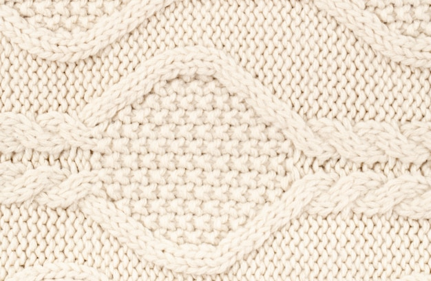 Pattern crocheted with cream wool