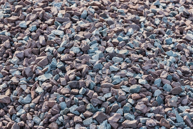 Pattern of crushed stones and gravel background
