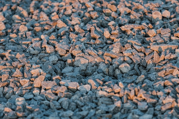 Pattern of crushed stones and gravel
