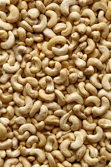 Pattern of delicious raw cashew nuts