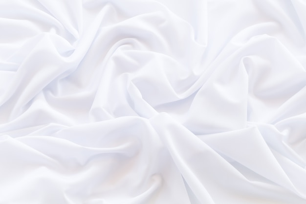 Pattern and detail grooved of white fabric for background and abstract