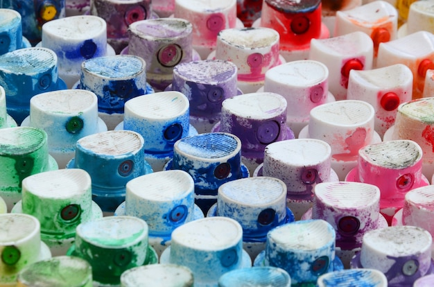 A pattern from a many nozzles from a paint sprayer for drawing