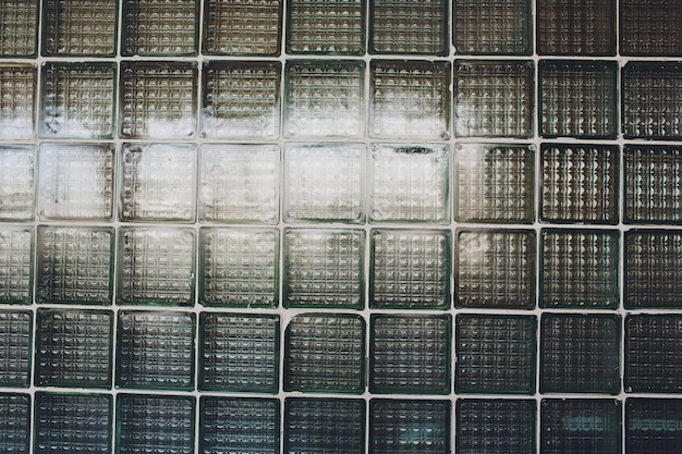 Pattern of glass block wall. it can be used as background for graphic work.
