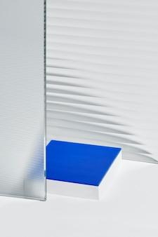 スタンド付きパターンガラス製品の背景