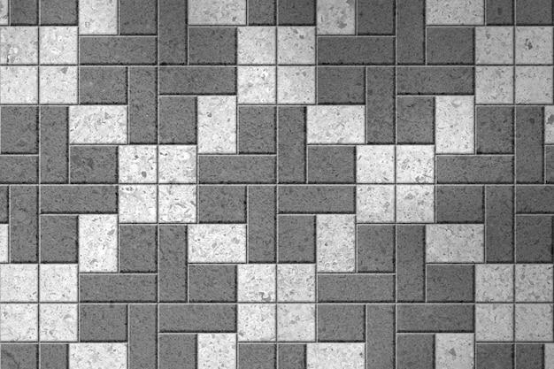 Pattern of gray sidewalk pavers