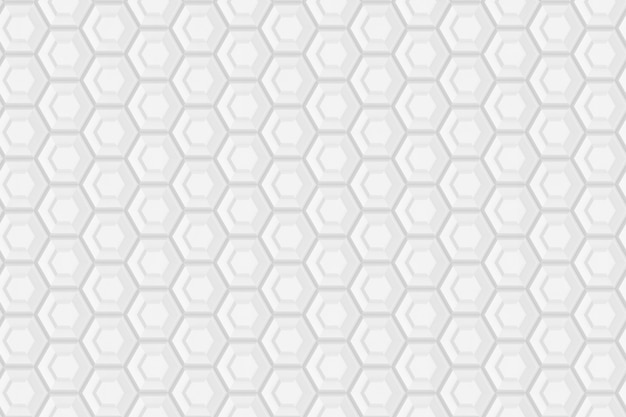 Pattern of hexagons and circles based on hexagonal grid or honeycomb
