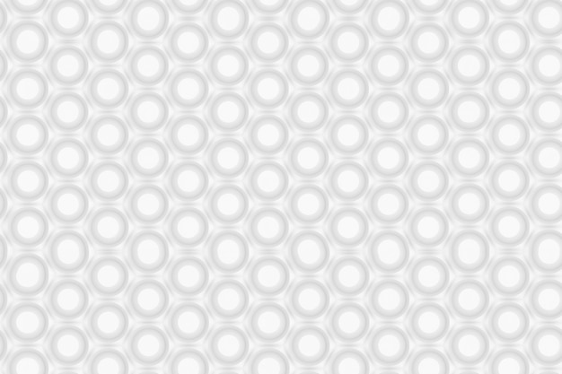 Pattern of hexagons and circles based on hexagonal grid