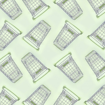 Pattern of many small shopping carts