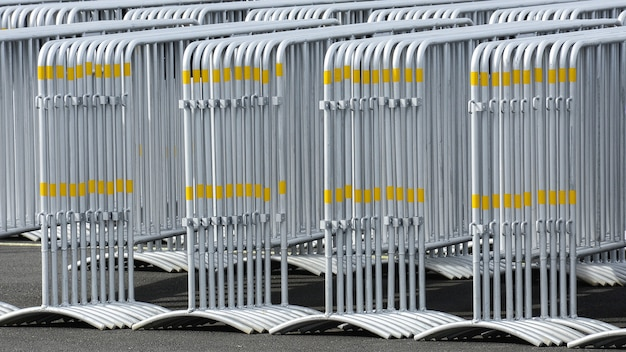 Pattern of metal traffic barrier
