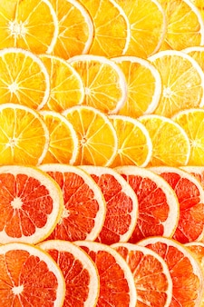 Pattern natural oranges and grapefruit dried sliced candied fruits