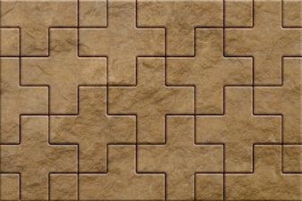 Pattern of brown sidewalk pavers