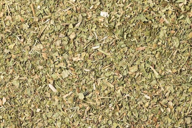 乾燥バジル調味料のパターンをクローズアップ